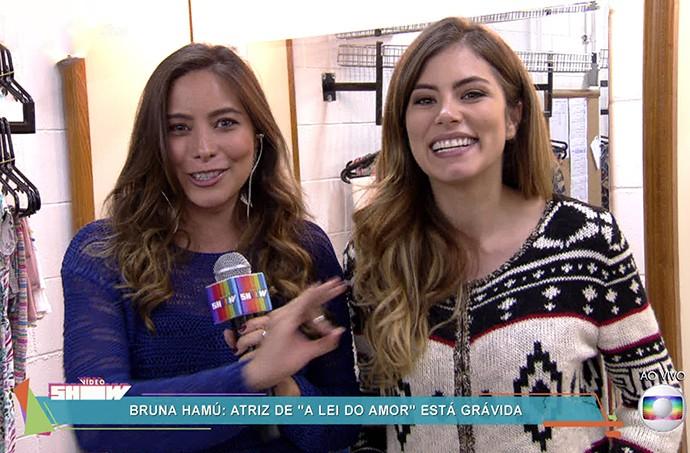 Bruna Hamú conta como disse à mãe que estava grávida (Foto: TV Globo)