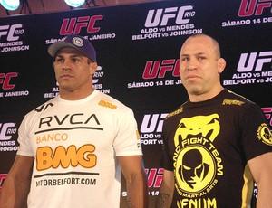 Vitor Belfort e Wanderlei Silva, UFC (Foto: Adriano Albuquerque)
