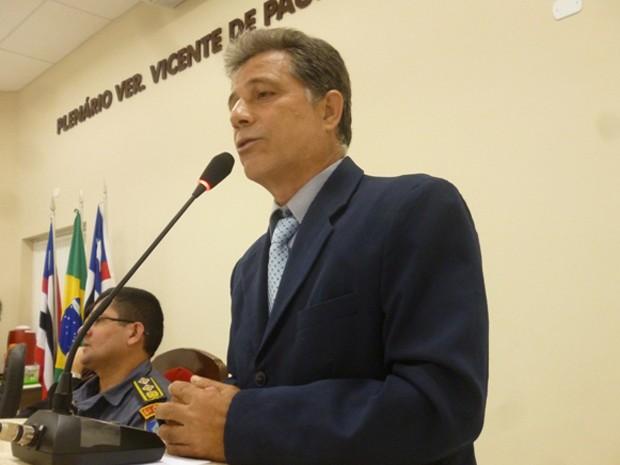 Presidente da Câmara Municipal de São João dos Patos, vereador João Evangelista (PMDB),  54 anos (Foto: Site da Câmara de São João Batista)