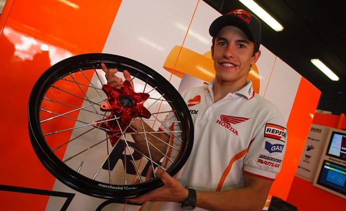 Rodas raiadas com Marc Marquez