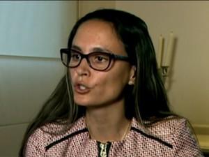 Beatriz Cattapreta, advogada do ex-diretor da Petrobras Paulo Roberto Costa (Foto: Reprodução / GloboNews)