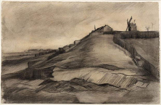"A obra ""The Hill of Montmartre with Stone Quarry"" foi atribuída a Van Gogh (Foto: Van Vlissingen Art Foundation)"