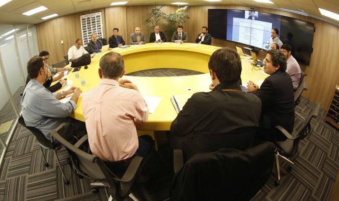 Reunião na CBF sobre calendário do futebol (Foto: Rafael Ribeiro/CBF)