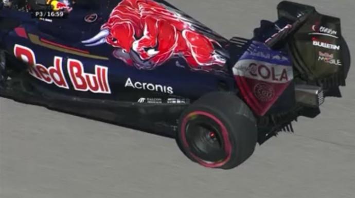 Carlos Sainz fura pneu pela segunda vez no 3º treino livre para GP dos EUA (Foto: Divulgação)