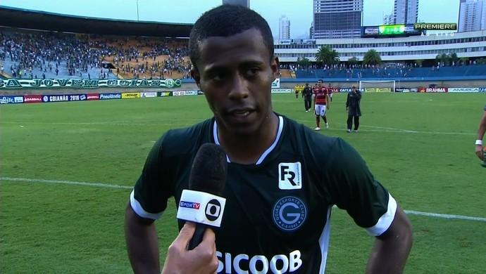 Carlos Eduardo - atacante do Goiás (Foto: Reprodução / TV Anhanguera)
