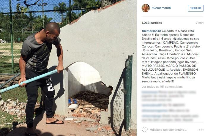 Mensagem Instagram Emerson (Foto: Reprodução / Instagram)