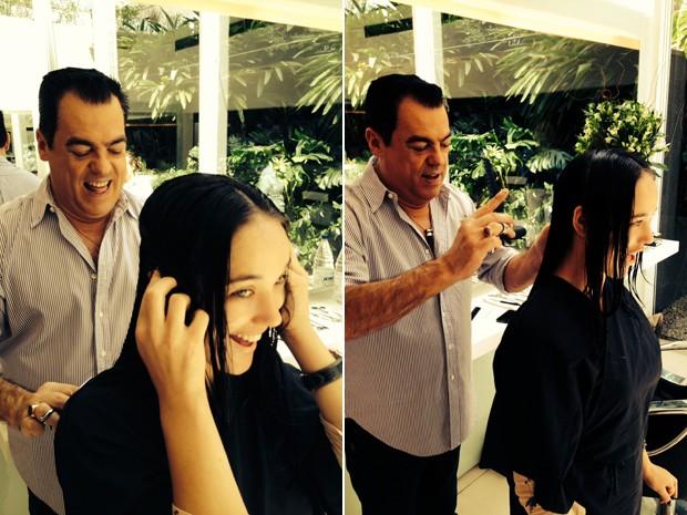 Atriz passa por transformação nos cabelos (Foto: Divulgação)