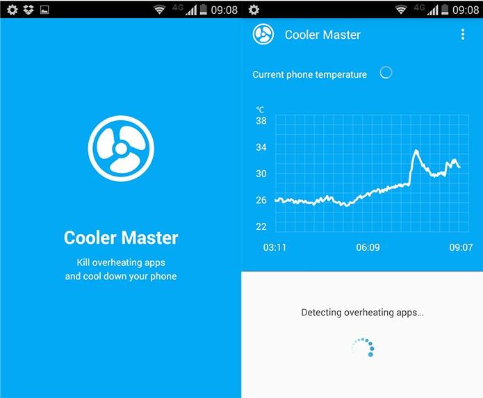 O app investiga a temperatura atual sempre que é iniciado (Reprodução)