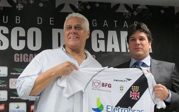Vasco, Patrocinador, Roberto Dinamite (Foto: Gabriel Fricke / Globoesporte.com)