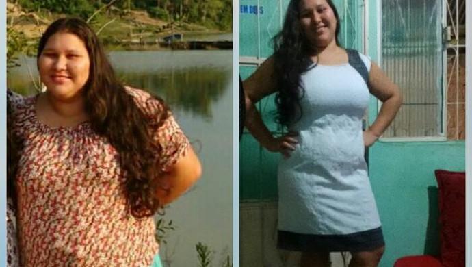 Amanda Calisto perdeu 28 kg, após reeducação alimentar e exercícios físicos (Foto: Armando Durante/ arquivo pessoal)