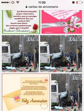 Foto de acidente na busca do Google (Foto: Reprodução/Larissa Ferrari)