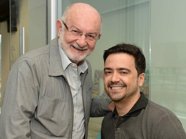 Silvio de Abreu é supervisor de texto de Daniel Ortiz para Alto Astral (Foto: TV Globo)