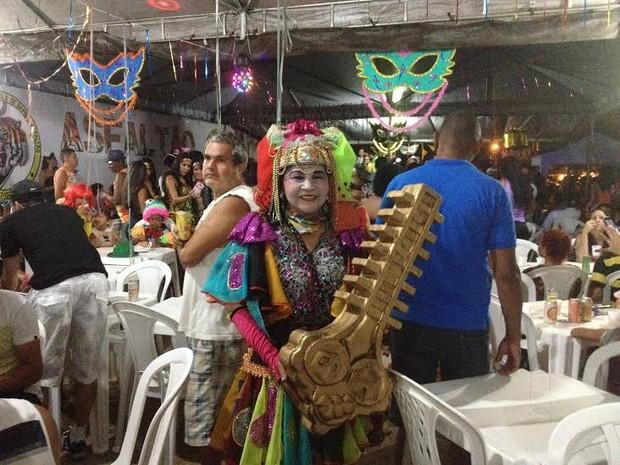 Maria da Chave, personagem criada para o carnaval de Porto Velho (Foto: Karla Cabral/G1)