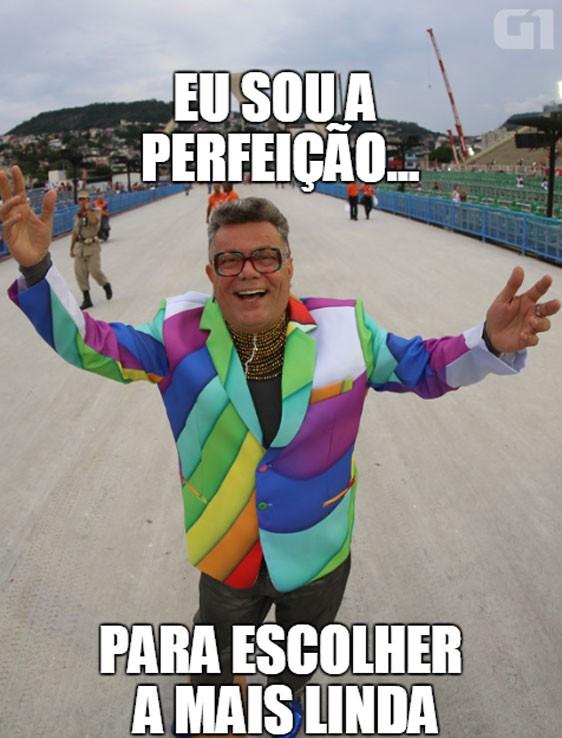 Sobre a escolha da mais bela passista do carnaval do Rio de Janeiro (Foto: Rodrigo Gorosito/G1)