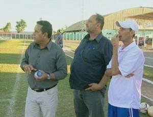 Éder Taques e Carlos Dalanhol (Foto: Reprodução/ TV Vilhena)