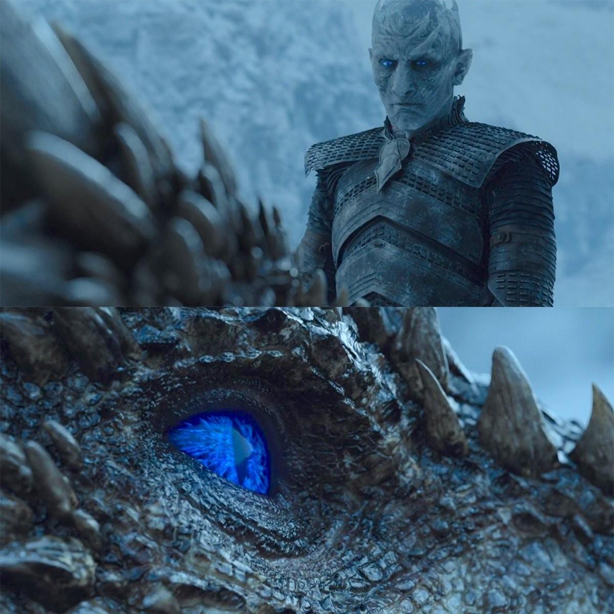 Momento da transformação de Viserion pelo White Walker (Foto: Reprodução/ HBO)