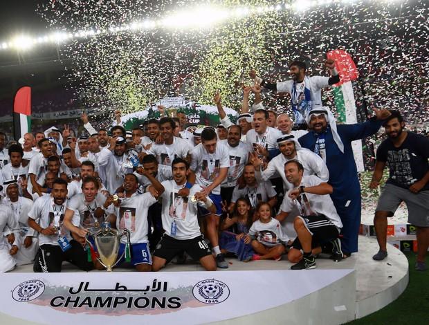 Al Nasr comemora título Copa do Presidente dos Emirados Árabes