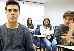 Estudantes falam sobre violência contra a mulher (Foto: Reprodução)