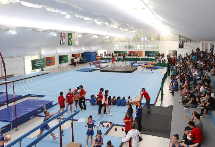 Centro de ginástica de São Bernando do Campo foi inaugurado neste sábado. Ele é o quarto de todo o Brasil (Foto: Ricardo Bufolin/CBG)