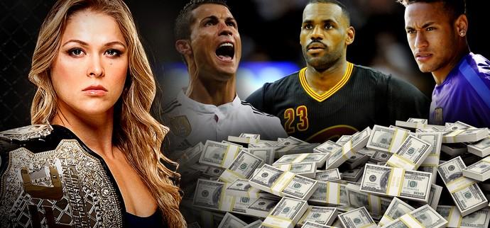 Ronda Rousey x Dinheiro (Foto: InfoEsporte)