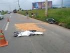 Jovem inabilitado cai de moto e morre  ao ser atropelado por carreta em GO