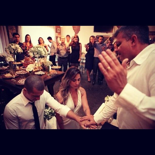 Galego e Lizi Benites se casam (Foto: Reprodução/Instagram)