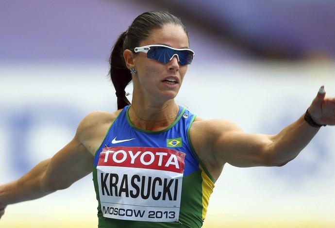 Franciela Krasucki, Mindial de Atletismo em Moscou (Foto: EFE)
