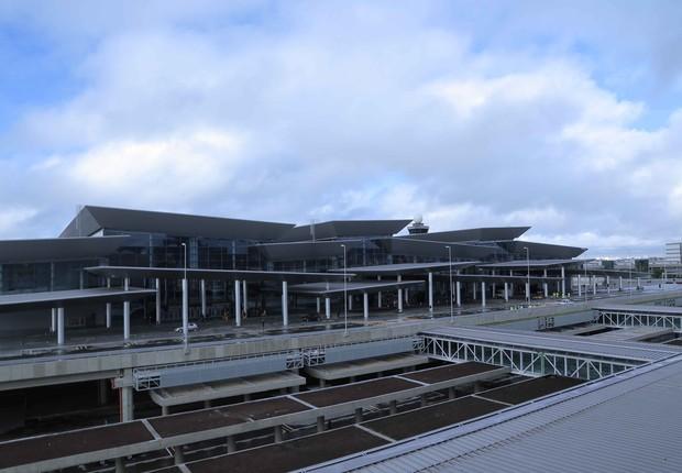 Novo terminal de Cumbica, no aeroporto de Guarulhos, inaugurado um mês antes da Copa (Foto: Divulgação)