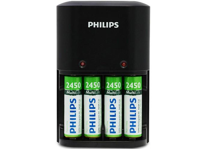 O carregador Philips possui duas versões: para duas ou quatro pilhas (Foto: Divulgação)