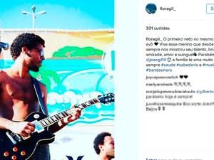 Flora Gil postou no Instagram homenagem a João Gil e a Gilberto Gil, Bahia (Foto: Reprodução/ Instagram)