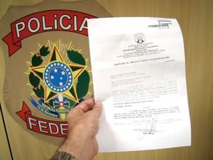 Piauiense foi preso por força de um mandado de prisão por estelionato (Foto: Divulgação/Polícia Federal)