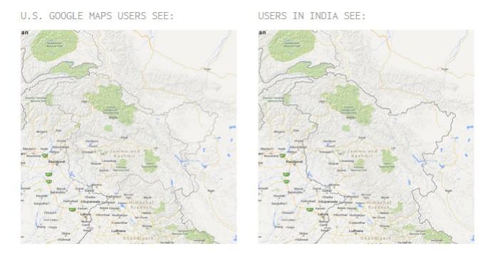 Disputa pela Casemira é mostrada de formas diferentes no Google Maps (foto: Reprodução) (Foto: Disputa pela Casemira é mostrada de formas diferentes no Google Maps (foto: Reprodução))