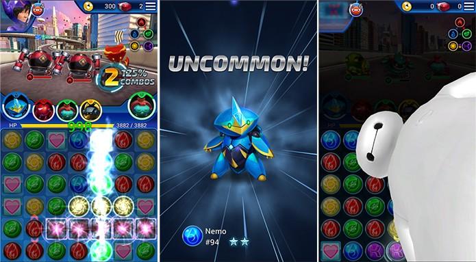 Operação Big Hero é o novo game da Disney que mistura puzzle e batalhas (Foto: Divulgação/Windows Phone Store)