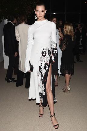 Karlie Kloss em prêmio de moda em Nova York, nos Estados Unidos (Foto: Nicholas Hunt/ Getty Images/ AFP)