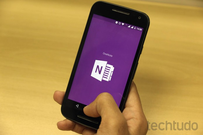 OneNote no Android (Foto: Ana Marques/TechTudo)
