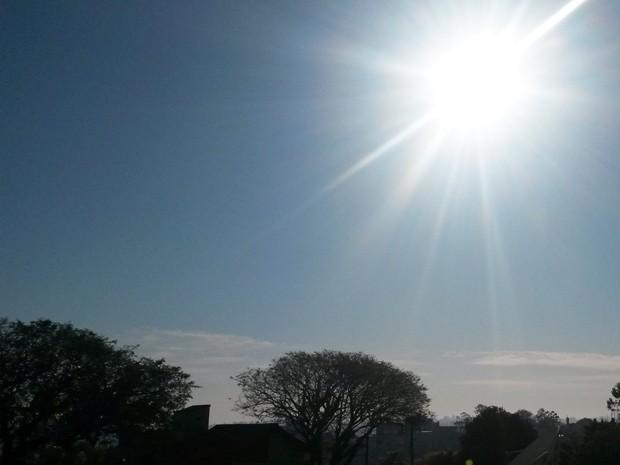 Domingo de Dia dos Pais tem previsão de sol para todo o estado (Foto: Igor Grossmann/G1)