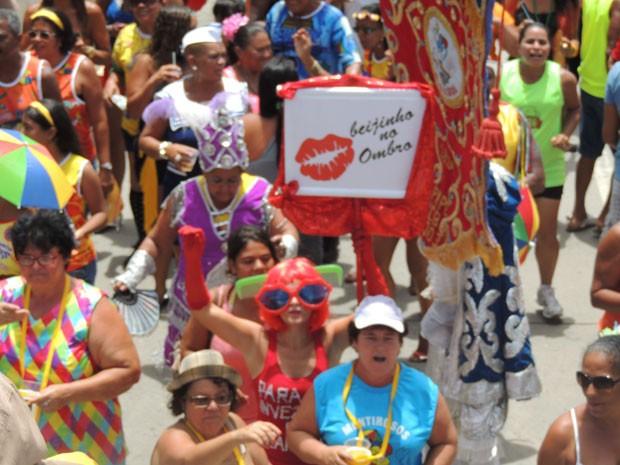 Desfile do bloco Camburão da Alegria, no Recife (Foto: Luna Markman / G1)