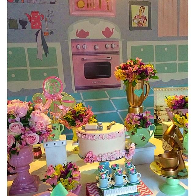 decoracao cozinha rural : decoracao cozinha rural:Decoração do chá de cozinha de Fernanda Souza (Foto: Reprodução