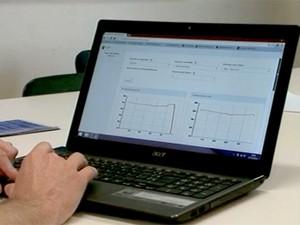 Sistema pode ser acessado do computador ou até celular (Foto: Reprodução/RBS TV)