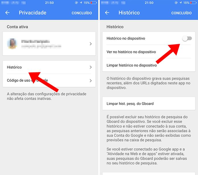 Pare de gravar buscas feitas no iPhone (Foto: Reprodução/Paulo Alves)