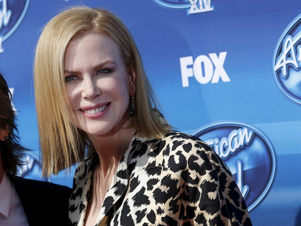 Nicole Kidman na final da 14ª temporada do American Idol em Los Angeles, nos Estados Unidos (Foto: Patrick T. Fallon/ Reuters)