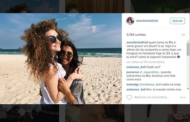 Dupla já está no Rio de Janeiro para começar a gravação do álbum (Foto: Reprodução/Instagram)