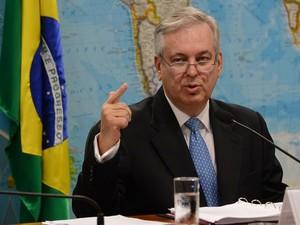 O ministro das Relações Exteriores, Luiz Alberto Figueiredo, durante audiência no Senado (Foto: Agência Brasil)