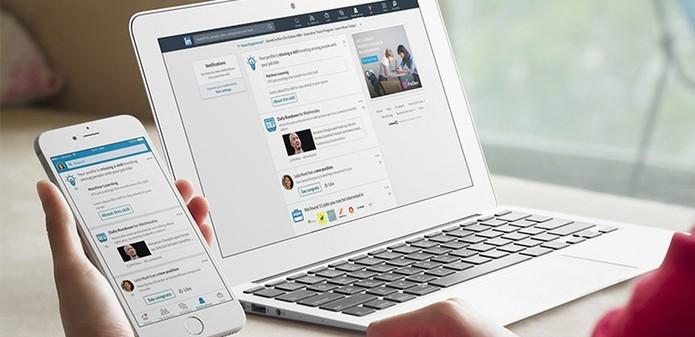 Com o LinkedIn é possível montar um currículo de forma rápida (Foto: Divulgação/LinkedIn)