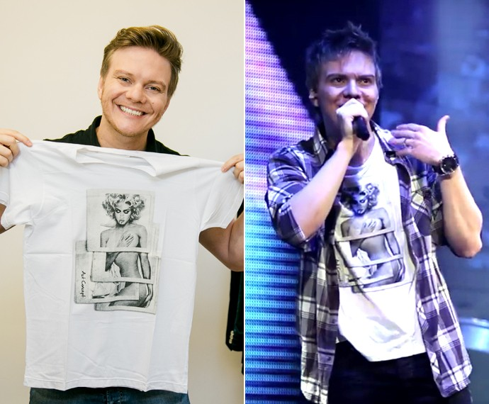 Michel Teló ainda guarda a camisa que usou no clipe 'Ai, Se Eu Te Pego' (Foto: Isabella Pinheiro/Gshow)