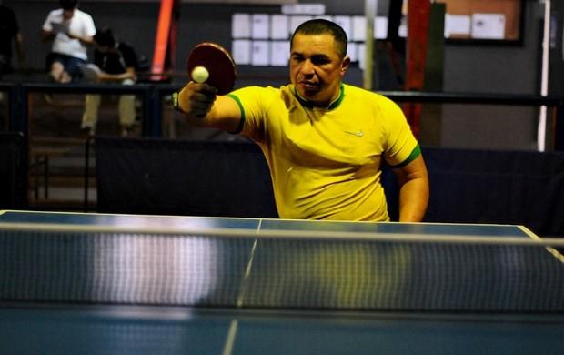 Tênis de mesa, James Cardoso, amazonas (Foto: Michael Dantas/Sejel)