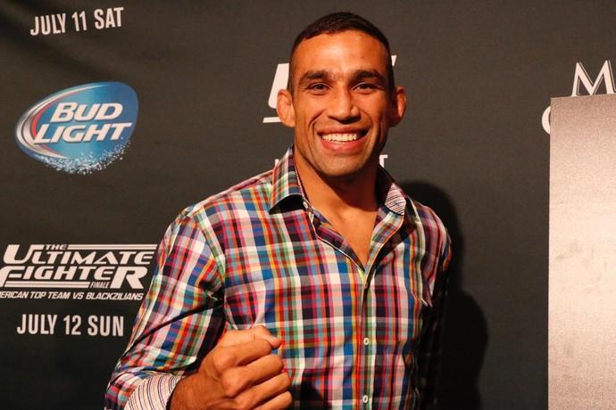 Fabricio Werdum foi um dos astros do UFC presentes ao media day da International Fight Week (Foto: Evelyn Rodrigues)