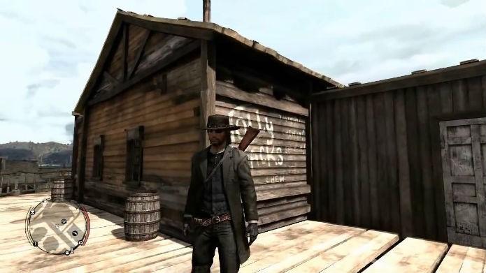 Marston vestindo a roupa Deadly Assassin (Foto: Reprodução/YouTube)