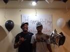 Anderson Silva comemora o aniversário do filho Gabriel com festa