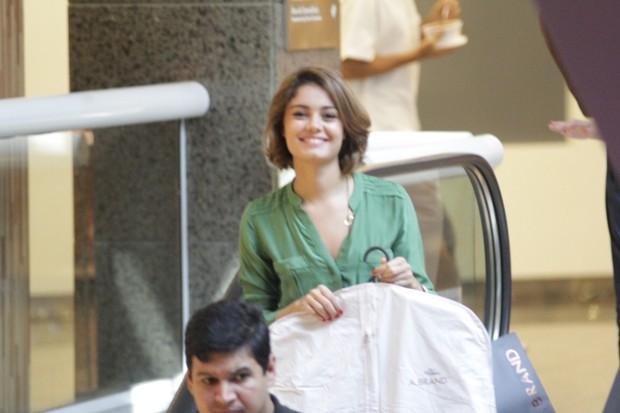 Sophie Charlotte vai a shopping no RJ (Foto: Derick Abreu / Photo Rio News)